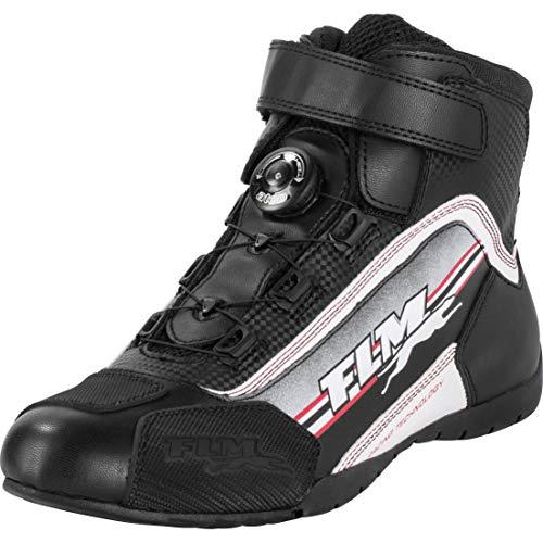 FLM Motorradschuhe, Motorradstiefel kurz Sports Schuh 1.2 schwarz/weiß 35, Herren, Sportler, Sommer