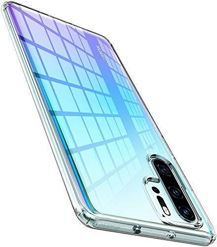 Spigen L37CS25726 Liquid Crystal Kompatibel mit Huawei P30 Pro Hülle Transparent TPU Silikon Handyhülle Durchsichtige Schutzhülle Case - Crystal Clear