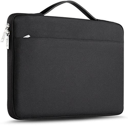 """Zinz 15,6 Zoll Aktentasche Laptoptasche Hülle, Stoßfeste Wasserdicht Notebook Sleeve kompatibel mit 15-15,6\"""" HP/Dell/ASUS/Acer/ThinkPad/Samsung/Toshiba Chromebook UltraBook Tablet, Schwarz"""