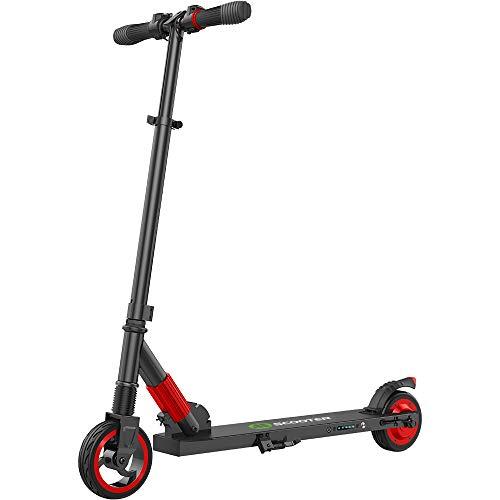 M MEGAWHEELS Elektro Scooter Klappbar City-Roller, Höhenverstellbar E Scooter, Tret-Roller für Erwachsene und Jugendliche S1 Rot