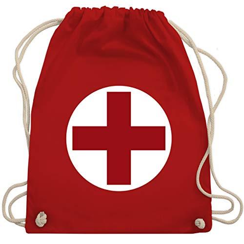 Shirtracer Karneval & Fasching - Rotes Kreuz Karneval Kostüm - Unisize - Rot - rot kreuz turnbeutel - WM110 - Turnbeutel und Stoffbeutel aus Baumwolle