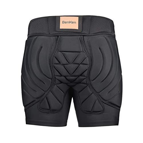BenKen Ski-Schutzhose, gepolsterte Hose, für Damen und Herren, 3D-Schutz, Hüft-Gesäßschutz, atmungsaktiv, stoßfest, für Snowboarden, Skaten, Padded Short Pants, m