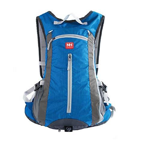 HYSENM Rucksäcke leicht Fahrrad Rucksack wasserdicht 15L Kapazität geeignet für Laufen Klettern Bergsteigen um Helm unterzubringen, hellblau