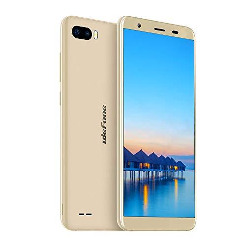 Ulefone S1 Günstige Handy ohne Vertrag (13.97 cm (5.5 Zoll) Metallrahmen, 8MP+5MP+5MP Kamera, 8GB Speicher, Android 8.1 Go Edition, Dual SIM Handy unter 100, Face ID) Gold