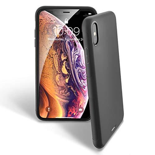 UNBREAKcable iPhone X/XS Hülle - Weiche, mattierte TPU Ultra-dünne Stylische iPhone X/XS Handyhülle für 5,8 Zoll iPhone X/XS [Fallschutz, rutschfest] - Matt Schwarz