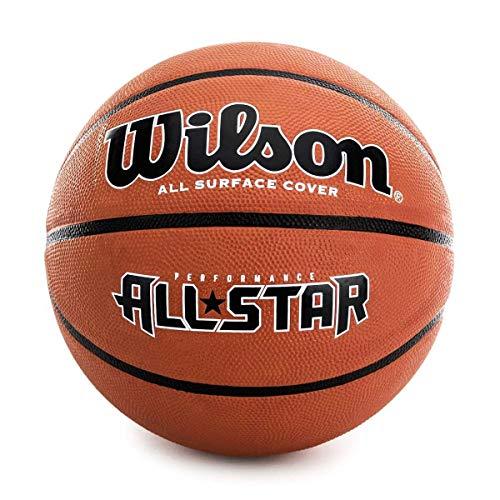 Wilson Men\'s NEW PERFORMANCE ALL STAR BSKT Basketball, Brown, OFFICIAL
