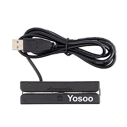 FTVOGUE Magnetkartenleser USB-Mini-Kreditkarte 3 Dreifache Spuren Hallo-Co Magnetstreifenstreifen Streifen Kreditkarte Swipe Geschwindigkeitsmesser Swiper FÜR Kassensystem Registrierkasse Msr