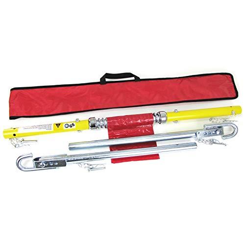 Tenzo-R 34275 PKW KFZ Auto Sicherheits Abschleppstange mit Dämpfer und Tasche 2T 1.8m gelb