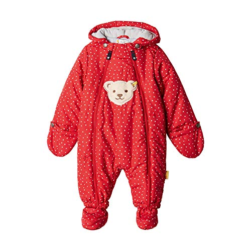 Steiff Baby-Mädchen Schneeanzug, Rot (TANGO RED 4008), 68