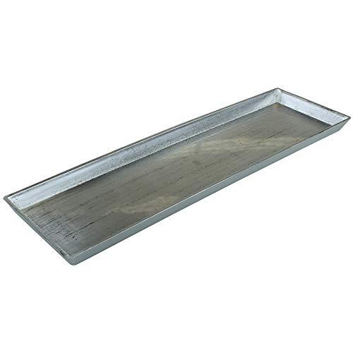 MACOSA GE1360 Deko-Tablett Silber rechteckig   Dekoschale Dekoteller Kunststoffschale Kerzentablett Kerzenteller Servierplatte Tisch-Dekoration Schale