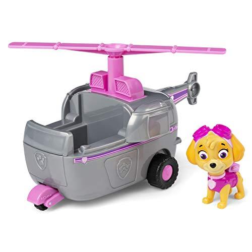 PAW PATROL 6054971, Skye's Helicopter Vehicle with Collectible Figure, for Kids Aged 3 Years and Over, Skyes Hubschrauberfahrzeug mit Sammelfigur, für Kinder ab 3 Jahren, Mehrfarbig