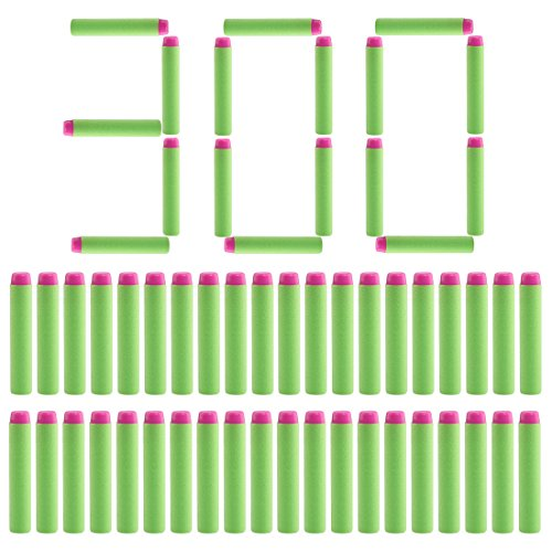 Batop 300 Stück Pfeile Dart Nachfüllpack für Nerf Rebelle / Nerf Fortnite (Grün)