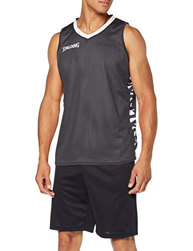 Spalding Herren Essential Reversible Shirt Trikot, schwarz/Weiß, L