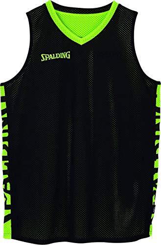 Spalding Herren Essential Reversible Shirt, schwarz/Fluo gelb, 4XL
