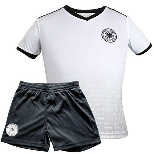 MC Trend Original DFB Fußball Kinder-Trikot-Set • Alle EM/WM Titel • Trikot & Hose Deutschland Nationalmannschaft Weltmeister (152)