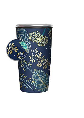 Chic mic Slide Cup Bambus Edelstahl to go Becher Golden Leaves