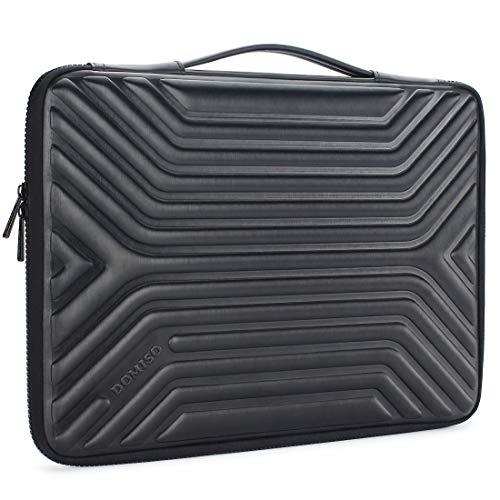"""DOMISO 15-15,6 Zoll Wasserdicht Laptophülle Notebook Tasche Schutzhülle mit Griff für 15.6"""" Lenovo IdeaPad ThinkPad/HP Spectre x360 Pavilion 15 Envy 15 / Dell XPS 15 / Apple/Asus, Schwarz"""