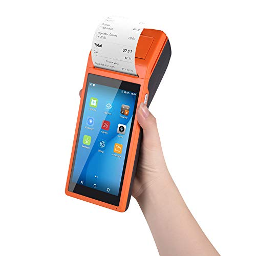 Aibecy Thermodrucker Handy Drucker All-in-One Smart POS Terminal Wireless Drucker Mobiler Drucker Intelligente Zahlungsterminalfunktion BT/WiFi/USB OTG / 3G-Kommunikation