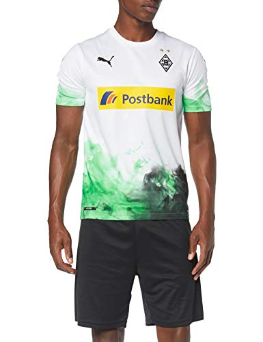 PUMA Herren BMG Home Replica mit Sponsor Trikot, White/Bright Green, XL