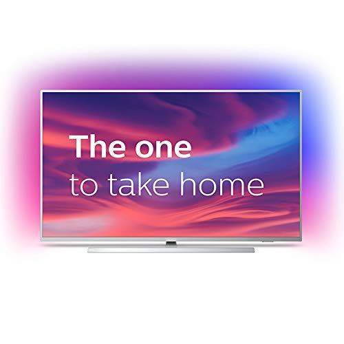 Philips Ambilight 43PUS7304/12 Fernseher 108 cm (43 Zoll) Smart TV (4K, LED TV, HDR 10+, Android TV, Google Assistant, Alexa kompatibel, Dolby Atmos) Hellsilber