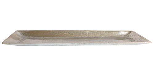 Dekoschale 60 cm Aluminium Schale Tablett Dekotablett Kerzentablett Metall