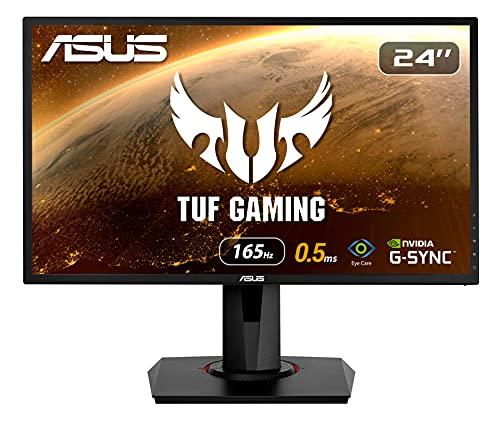 ASUS VG248QG 60,96 cm (24 Zoll) Gaming Monitor (Full HD, G-Sync Compatible, DVI, HDMI, DisplayPort, 0,5ms Reaktionszeit, bis zu 165Hz) schwarz