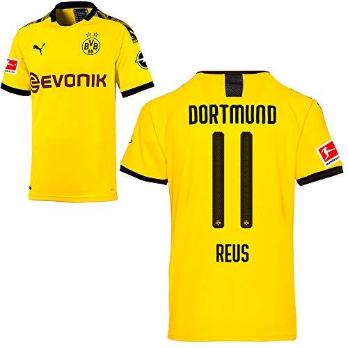PUMA Borussia Dortmund BVB Heimtrikot 2019/20 Home Trikot Sponsor BL Logo Herren Marco Reus 11 Gr L