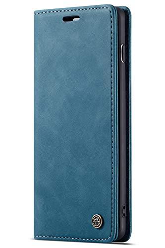 Handyhülle, Premium Leder Flip Schutzhülle Schlanke Brieftasche Hülle Flip Case Handytasche Lederhülle mit Kartenfach Etui Tasche Cover für Samsung Galaxy S10