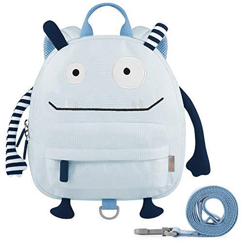 GAGAKU Kinderrucksack mit Brustgurt Mini Cartoon Kinder Rucksack für Mädchen - Blau