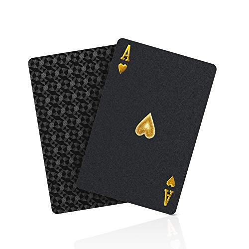 SolarMatrix Schwarzer Diamant Kunststoff Pokerkarten Plastik wasserdichte Spielkarten- 1 Deck von Spielkarten Plastik