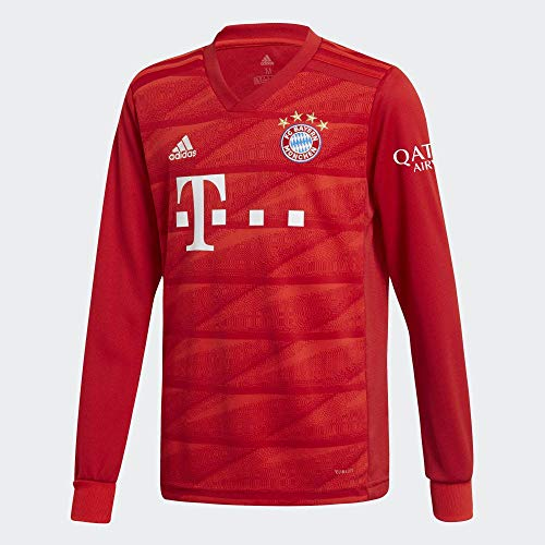 adidas Kinder FC Bayern München Home Langarm Trikot 2019/20 FCB True RED 164