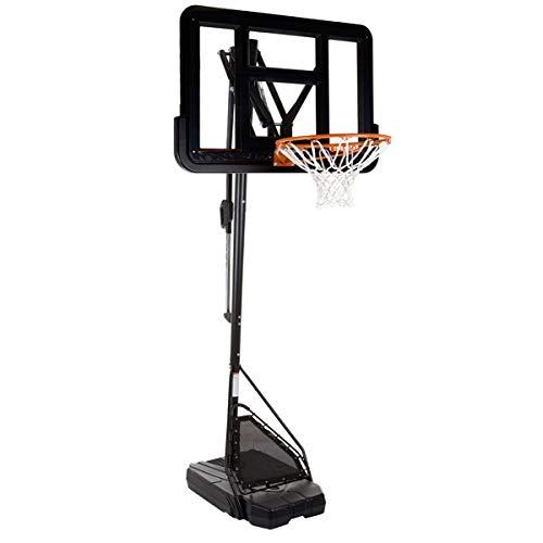 HAMMER Slam Shot Pro Basketballanlage inkl. Basketballtrainer Ball Return, Rebound-Netz und Mikasa Basketball, 7-Fach Verstellbarer Basketballständer, Höhe bis zu 3,05 m, NBA-Backboard-Design