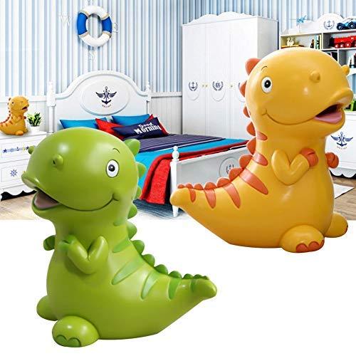 Spardosen für Kinder, chöne grüne Dinosaurier geformt Sparschwein, Beste Geburtstagsgeschenke für Kinder Jungen Mädchen Dekoration, 15,2 x 15,2 cm