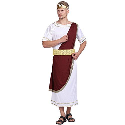 EraSpooky Erwachsener Kaiser von Rom Caesar Kostüm griechischer Gott Karneval Kostüm (XL)