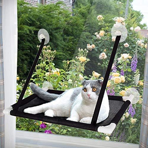 Afufu Katzen Fensterplätze, Katzen Zubehör, Fensterplatz Window Lounger Katzen Hängematte für Kletterwand Katzen-Miezekatze 10kg