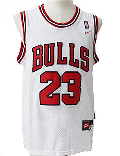 Herren NBA Michael Jordan # 23 Chicago Bulls Basketball Trikot Retro Gym Weste Sport Top (XL)