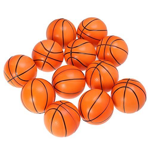 LIOOBO 12 stücke Mini Sportbälle Squeeze Foam Basketbälle Stressbälle Favor Spielzeug Party Stressabbau Entspannung Orange
