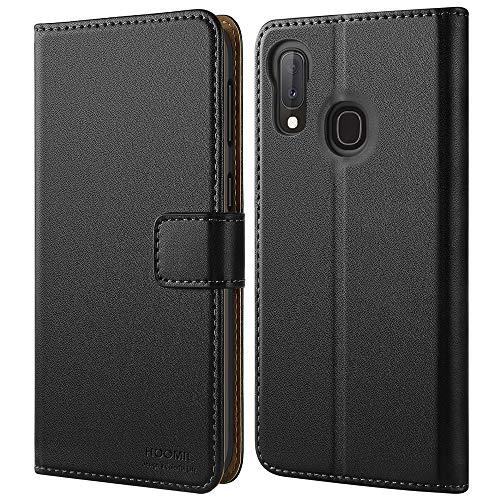 HOOMIL Handyhülle für Samsung Galaxy A20e Hülle, Premium PU Leder Flip Schutzhülle für Samsung Galaxy A20e Tasche - Schwarz