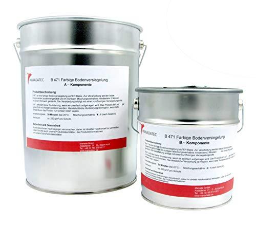 10KG 50m² viele RAL Farben 2K Epoxidharz BodenfarbeBodenbeschichtung Bodenversiegelung Betonfarbe Garagenbodenbeschichtung Fußbodenfarbe (RAL 7035 Lichtgrau)