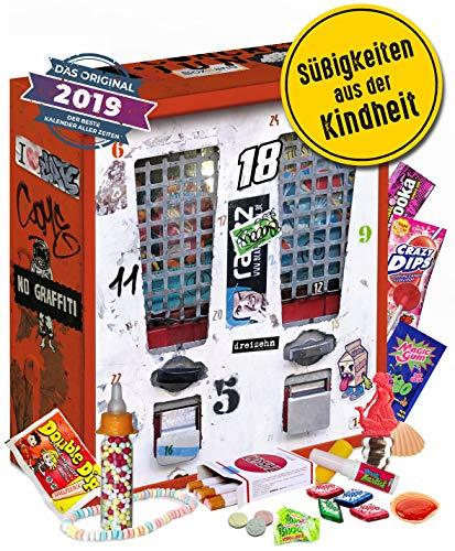Nostalgie Adventskalender 2021 I Kalender mit früheren Süßigkeiten I Geschenkset nostaglisch werden I nostalgische Vorweihnachtszeit für 80er 90er 2000er Erwachsene I Retro Adventskalender 2021