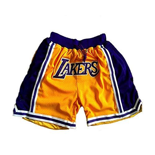 SPORTS Herren Jersey Lakers James Basketball Hose # 23 Herren Shorts Gelb Stickerei Trainingswettbewerb Cropped Pants M