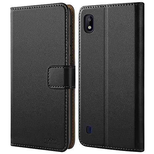 HOOMIL Handyhülle für Samsung Galaxy A10 Hülle, Premium PU Leder Flip Schutzhülle für Samsung Galaxy A10 Tasche (Schwarz)