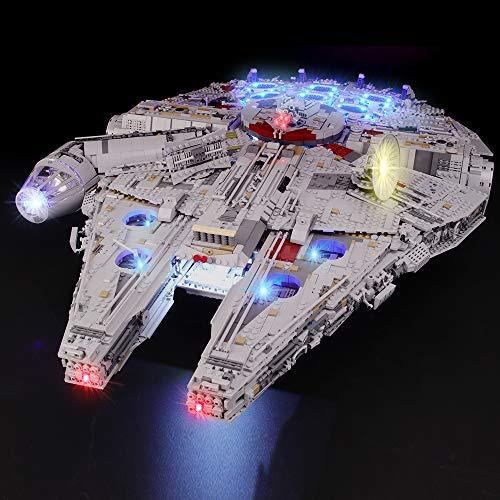 BRIKSMAX Led Beleuchtungsset für Lego Star Wars Millennium Falcon, Kompatibel Mit Lego 75192 Bausteinen Modell - Ohne Lego Set