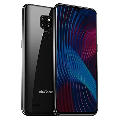 Ulefone Note 7P (2019) 4G Smartphone ohne Vertrag 6,1 Zoll 32GB Speicher 8MP+2MP+2MP Triple Kamera Dual SIM Handy Android 9 - Face/Fingerabdrucksensor, Bluetooth 5.0, OTG - Schwarz