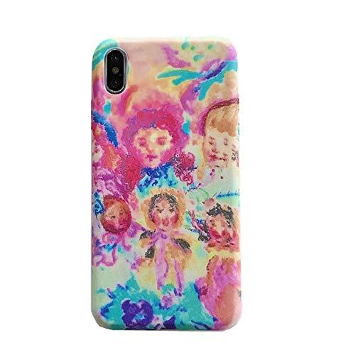 SUNHAO 6 7 8 Plus iPhone XSR MAX Handyfall Schutzabdeckung ultradünne Schutzabdeckung Paar Handy Shell Lin Xiaozhai mit derselben bemalten Mädchen für Handyschale Apple 7 / 8plus weibliche Modelle 6S