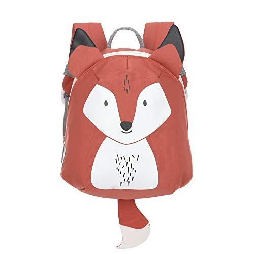 LÄSSIG Kleiner Kinderrucksack für Kita Kindertasche Krippenrucksack mit Brustgurt/Tiny Backpack, 20 x 9 x 24 cm, 3,5 L, Fox