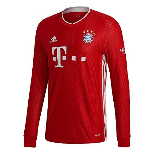 adidas Herren 20/21 FC Bayern Home Jersey Longsleeve Trikot Langarm, Fcbtru, L