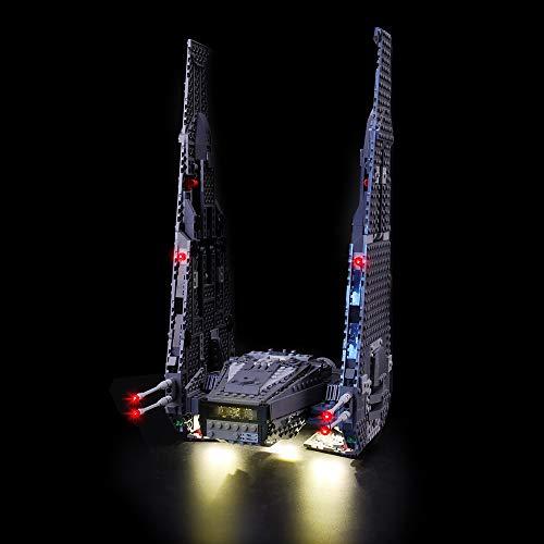 LIGHTAILING Licht-Set Für (Star Wars Kylo Ren\'s Command Shuttle) Modell - LED Licht-Set Kompatibel Mit Lego 75104(Modell Nicht Enthalten)
