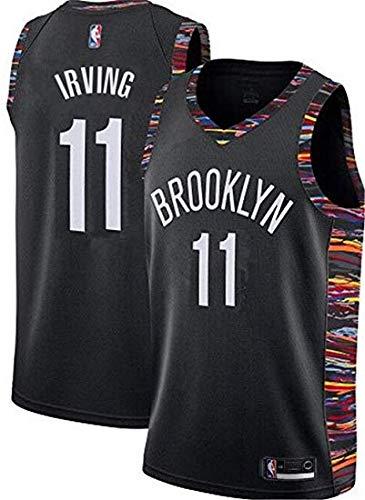 Dwin Kyrie Irving Trikot - NO.11 Brooklyn Nets Basketballspieler-Trikot für Herren NBA Fan-Trikot Swingman Jerseys (S-XXL)