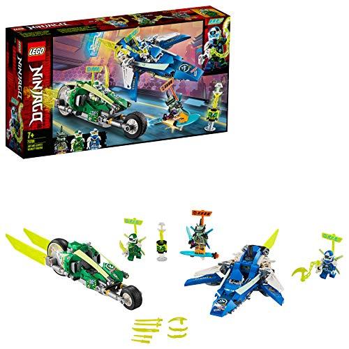 LEGO 71709 NINJAGO Jay und Lloyds Power-Flitzer mit Flugzeug- und Fahrradrennfahrern, Bauset